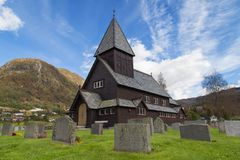 Roldal Stave Church Stock Photo