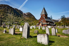 Roldal Stave Church, Norway Royalty Free Stock Photo
