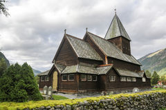 Roldal Stave Church Royalty Free Stock Photos