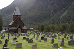 Roldal Stave Church Stock Images