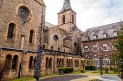 Rolduc -中世纪修道院在科尔克拉德,荷兰 免版税库存照片