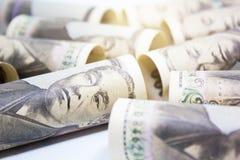 Role acima do fundo de Yen Banknote On Vintage Wooden do dinheiro imagem de stock royalty free