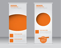Role acima o molde do suporte da bandeira Fundo abstrato para o projeto, Imagens de Stock