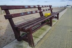 Role of |Honour Bench at Rhyl Harbour royalty free stock photography