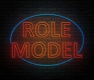 Role model concept. 3d Illustration depicting an illuminated neon sign with a role model concept Royalty Free Stock Images