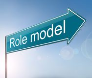 Role Model concept. 3d Illustration depicting a sign with a role model concept Stock Photography