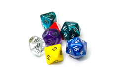 Role playing dices isolated on white background Royalty Free Stock Photography