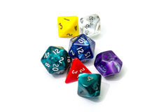 Role playing dices isolated on white background Stock Images