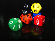 Role playing game dice set Royalty Free Stock Image