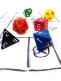 Role playing game dungeons dragons table dice set Stock Image