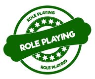ROLE PLAYING green stamp. Stock Image