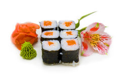Role with salmon Royalty Free Stock Photo