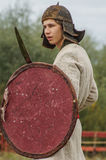 Roleplay battle reenactment of the era of the Mongol-Tatar yoke in the Kaluga region of Russia on 10 September 2016. Stock Image