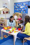 Roleplay Kitchen at Nursery stock photos