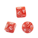 Roleplaying polyhedral dice isolated Royalty Free Stock Photo