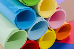 Roles of color paper. Stock Image