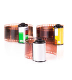 roles of 35 mm negative film Royalty Free Stock Photography