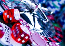 A roleta & lasca dentro o casino Foto de Stock Royalty Free