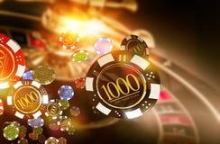 Roleta Chips Blow do casino Fotografia de Stock