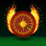 Roleta com fogo ilustração royalty free