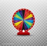 Roleta da fortuna da vitória Lazer da possibilidade do jogo Ilustração da sorte da loteria da roda da fortuna ilustração royalty free