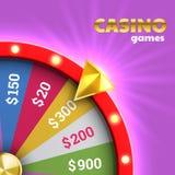 Roleta da roda da fortuna para a loteria de jogo ilustração royalty free