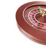Roleta do casino isolada em um fundo branco ilustração stock