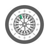 Roleta do casino isolada no vetor branco do fundo Fotos de Stock