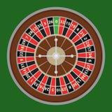 Roleta, uma roda de roleta de um casino Logotipo do casino ilustração royalty free