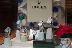 rolex κατάστημα Στοκ Εικόνες