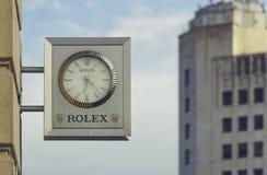 Rolex armazena o Signage fotografia de stock