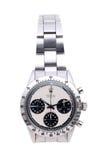 Rolex-Armbanduhr in einem Anzeigenfenster Lizenzfreie Stockbilder