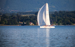 The Rolex Bol d'Or Sailboat Regatta, Lake Geneva Stock Photography