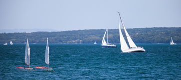The Rolex Bol d'Or Sailboat Regatta, Lake Geneva Stock Photo