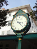 Rolex Clock at the Carolina Hotel in Pinehurst, North Carolina Stock Image
