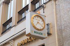 Rolex clock Royalty Free Stock Photography