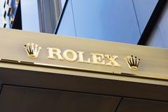 Rolex Company标志 免版税库存照片