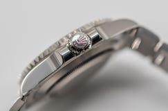 Rolex corona il simbolo sulla corona Fotografia Stock