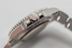 Rolex couronnent le symbole sur la couronne Photographie stock