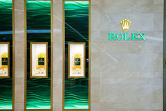 Rolex-horlogeopslag bij het Centrale Ambassadewinkelcomplex, Thailand royalty-vrije stock afbeeldingen