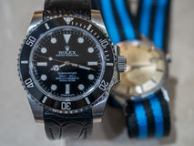 Rolex i omegi luksusowi zegarki Zdjęcie Royalty Free