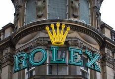 Rolex lager och tecken royaltyfria foton