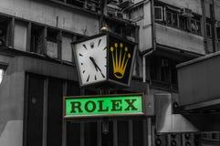 Rolex lager och tecken Arkivfoton