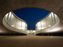Rolex Learning Center At EPFL After Sunset Stock Photography