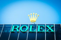 Rolex logo Royalty Free Stock Photography