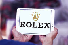 Rolex logo Stock Photo