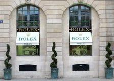Rolex luksusu butik fotografia stock
