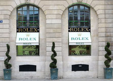 Rolex luxury boutique Stock Photography
