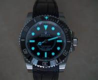 Rolex-Luxusuhr mit superluminova Lizenzfreie Stockfotos