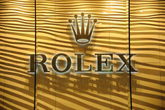 Rolex marca a caldo il marchio Fotografia Stock Libera da Diritti